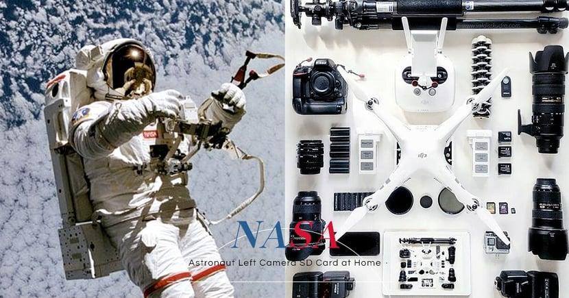 人類總會重複犯錯:美國太空人帶著 GoPro離開地球後,才發現裡面沒有記憶卡