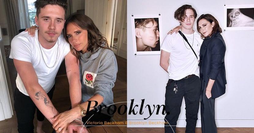 「家人就是彼此相愛」沒想到原來Victoria Beckham跟大兒子Brooklyn的關係好得更放閃!