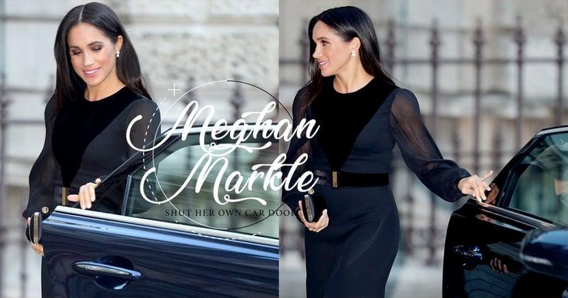 「最貼地公爵夫人」Meghan Markle 放下皇家身份親自關上車門,引來網民大讚!