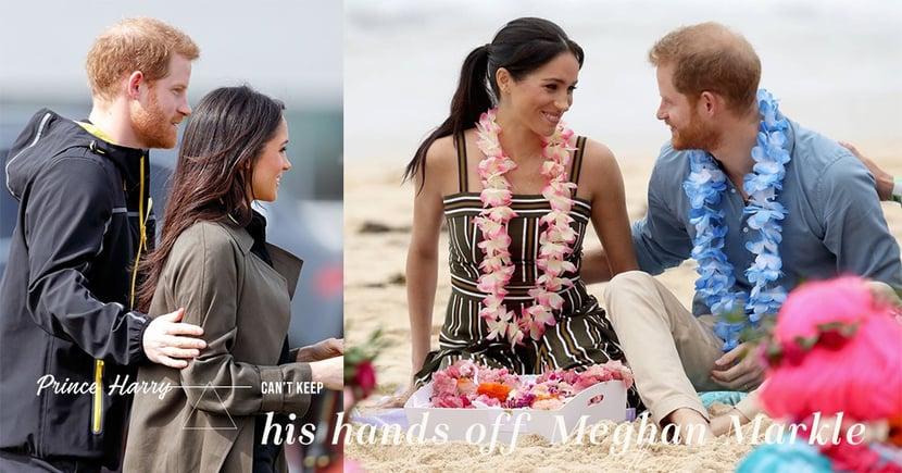 「執子之手,與子偕老」就是這樣吧!愛妻如命的哈里王子,無論去到哪裡他的手亦從不離開Meghan Markle!