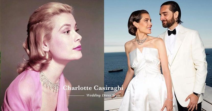 率性的摩納哥公主穿上這兩套訂製婚紗,讓人想起當年的Grace Kelly!