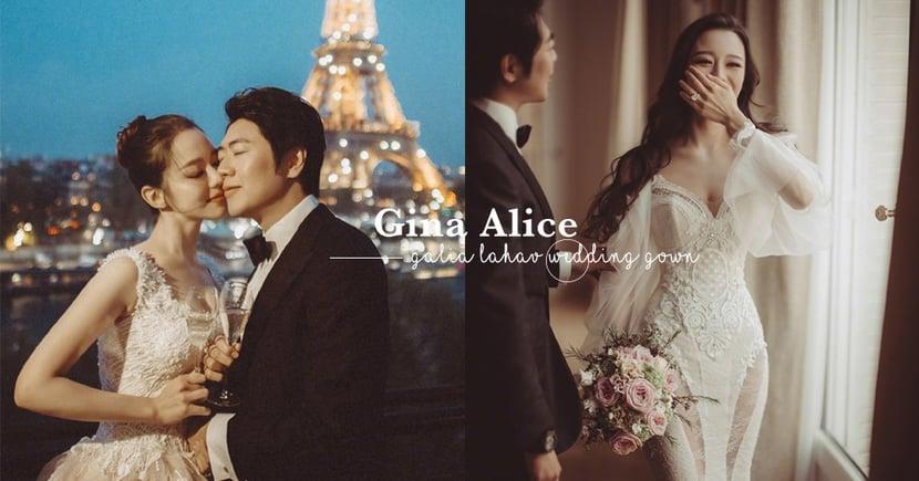 郞朗太太Gina Alice愛古典美,不過身上的婚紗怎麼似曾相識?