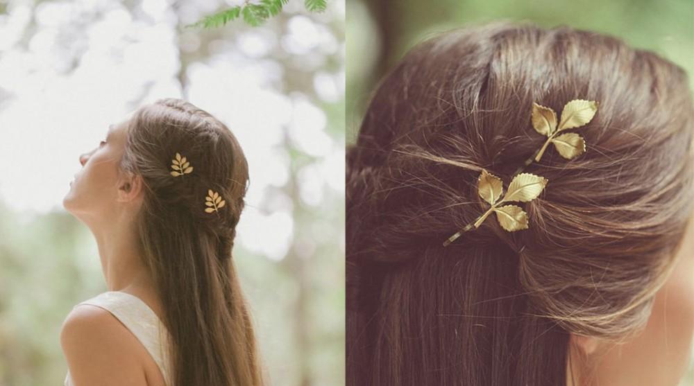 葉子造型髮飾清新脫俗可愛