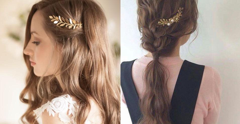 葉子髮夾清新脫俗添加溫柔仙女氣質