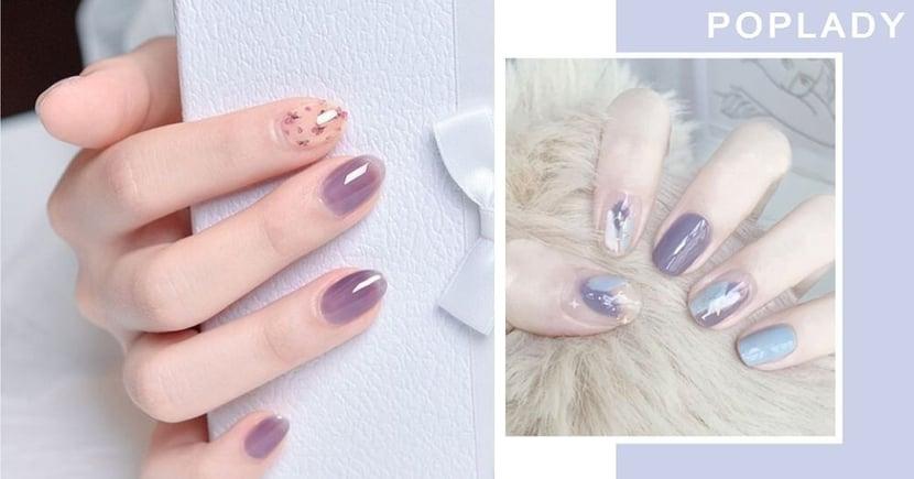 紫色控要注意!10款紫薯波波美甲讓指尖夢幻又溫柔