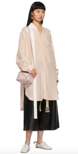 2020氣質粉裸色手袋襯白裙必備
