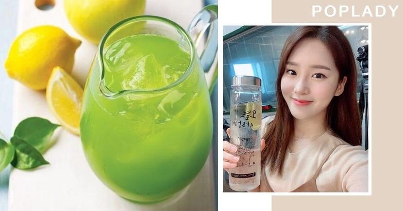 【去水腫】跟韓星飲「idol水」喝下即消水腫  3個月後減10KG美白又抗老