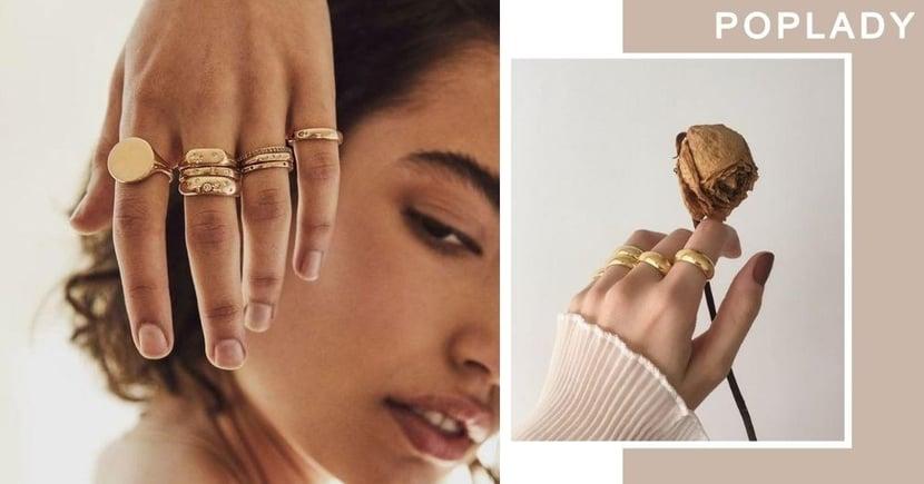 【戒指2020】秋冬提升美感好幫手 復古時尚的「金色戒指」配戴方法!
