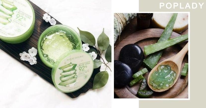【蘆薈Gel】韓國有名的平民護膚品「蘆薈凝膠」 保濕外5大隱藏用法!