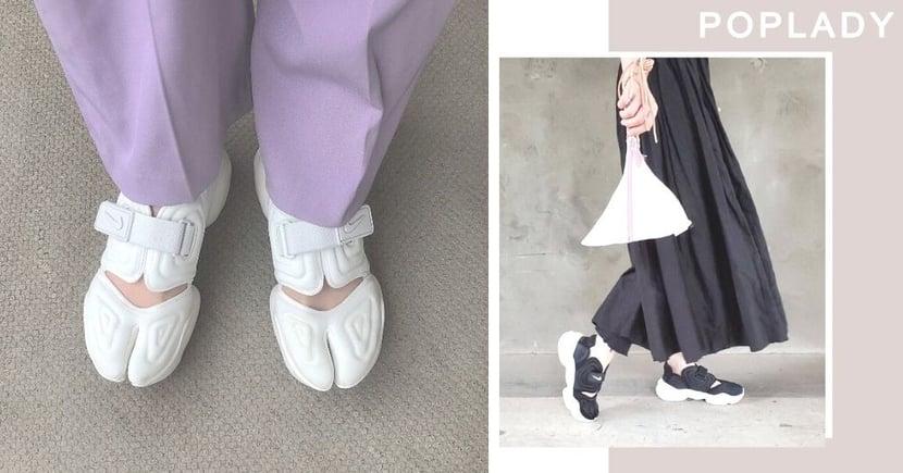 【熱捧黑白Nike Aqua Rift】情迷Tabi忍者運動鞋  日本街頭潮流穿搭技巧