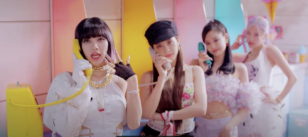 BLACKPINK +Selena Gomez 新曲 潮跟Jisoor絲巾Tube top造型003