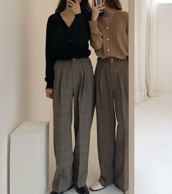 「高腰西褲」穿搭重點 穿出長腿好比例004