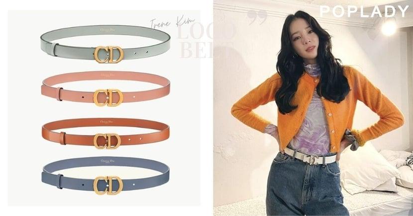 衣櫃必備「拉腰條」良品:時尚達人Irene Kim的名牌Logo皮帶穿搭 簡直就是行走的教科書!