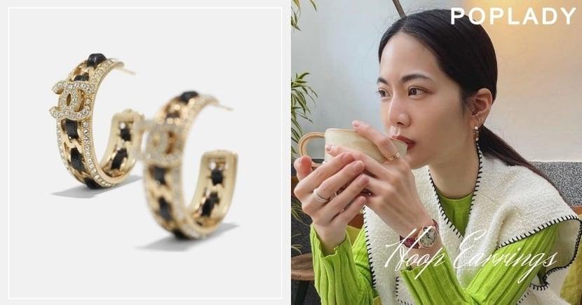 跟著曾之喬學戴簡潔「環型耳環」 注入經典Logo平凡造型更有質感!