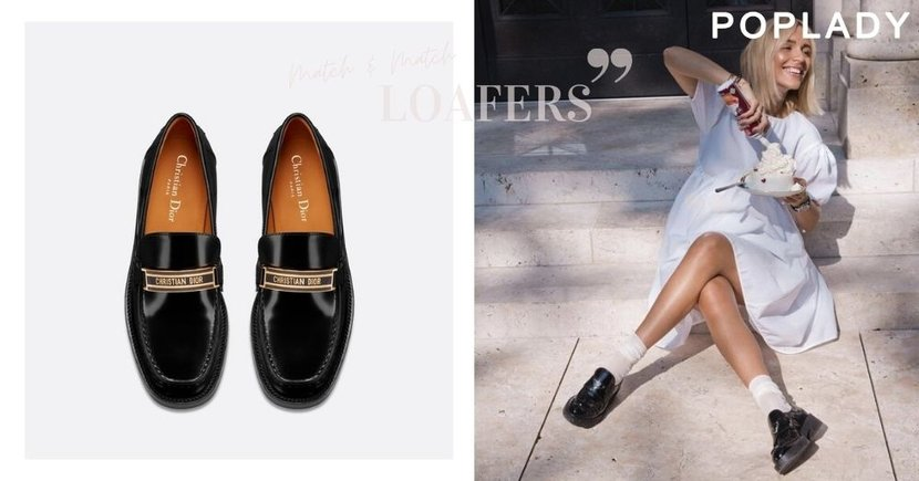 時尚人都必需要的一雙黑色Loafers :配上白襪子穿搭,打造出不同風格的質感造型