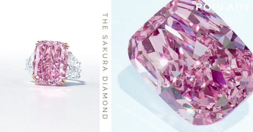 The Sakura Diamond: 比世界拍賣紀錄的粉紅鑽石還重1克拉,絕美櫻花美鑽讓人屏住了呼吸