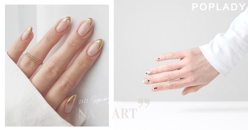 日韓女生美甲高級感秘訣:只需混入這元素,手指顯長添個性!