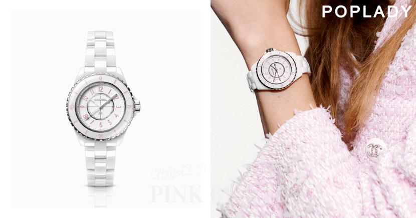 CHANEL J12 Pink Blush腕錶優雅限量登場,抹上粉紅散發柔美迷人氣質