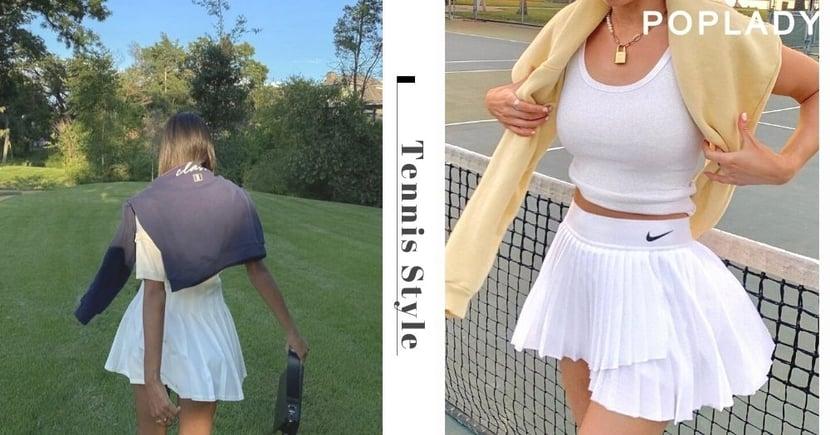 夏日運動風當道:不打網球也愛的Tennis風格,「百褶裙」穿出時尚高級感