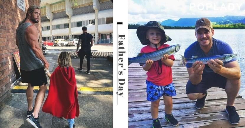 漫威英雄變身超級奶爸!雷神Chris Hemsworth、星爵Chris Pratt,父親都想成為孩子心中的英雄