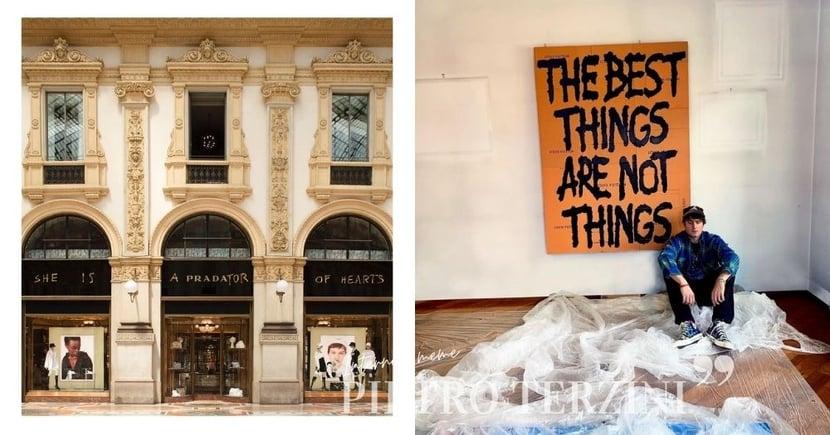 讓人會心一笑的時尚幽默感:迷因創造流行話題 只有他敢在Hermès、Prada等櫥窗上塗鴉諷刺!