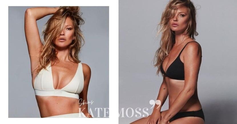 傳奇超模始祖Kate Moss經典重塑:再次展現獨有的性感魅力,超好狀態演繹Kim Kardashian內衣品牌