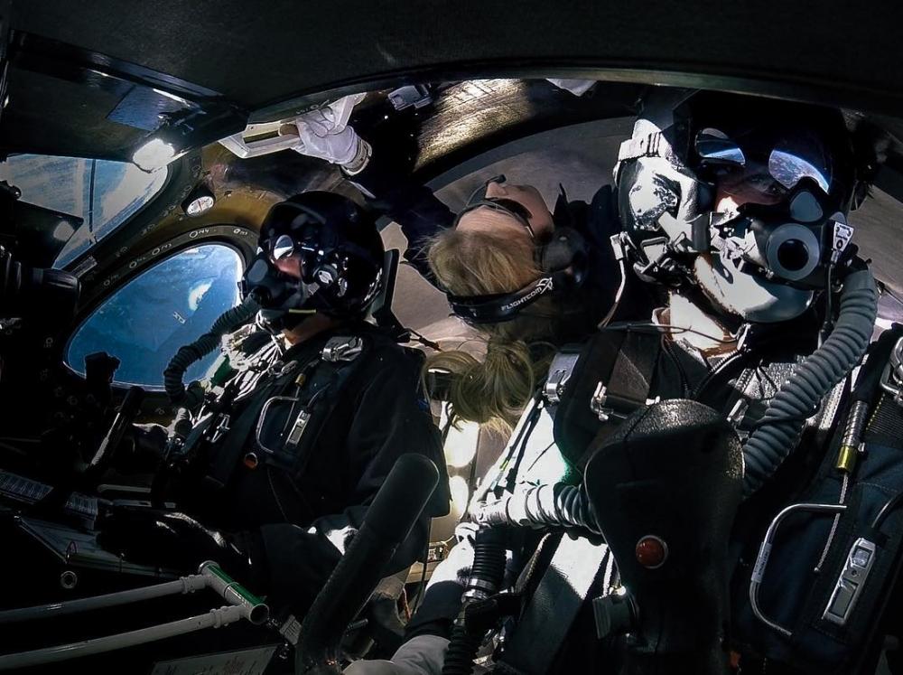 「第一位乘坐太空飛機的女性」,首席太空人指導員Beth Moses「面對夢想,你不應該將就