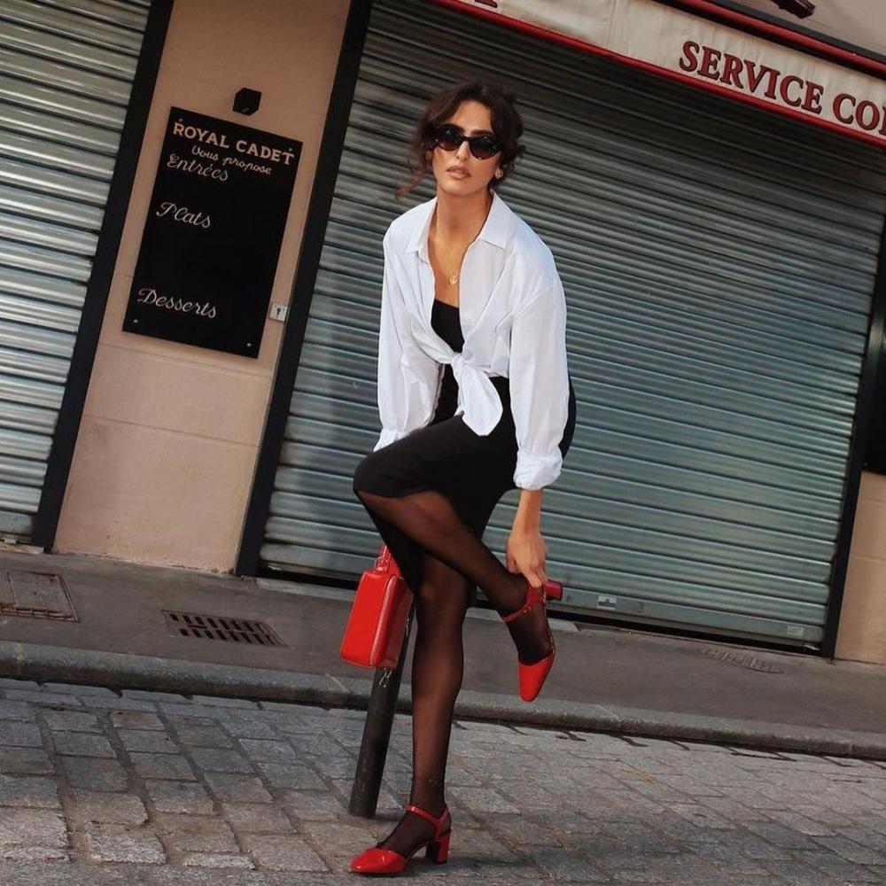 法國博主都在穿得小眾品牌鞋履推介,紅色才是法國女人的時髦選擇