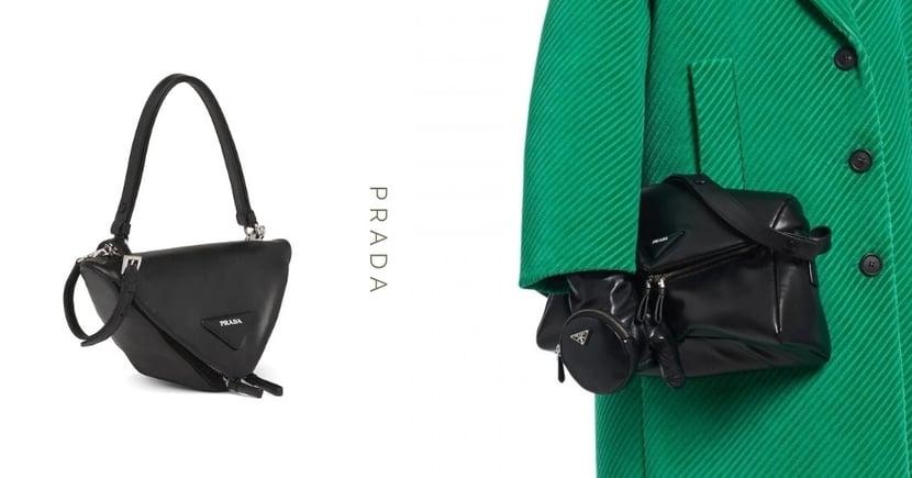 熱騰騰的三角造型立體手袋:藏於Prada 2021秋冬的清單裡,俐落時髦的細節讓它更受歡迎!