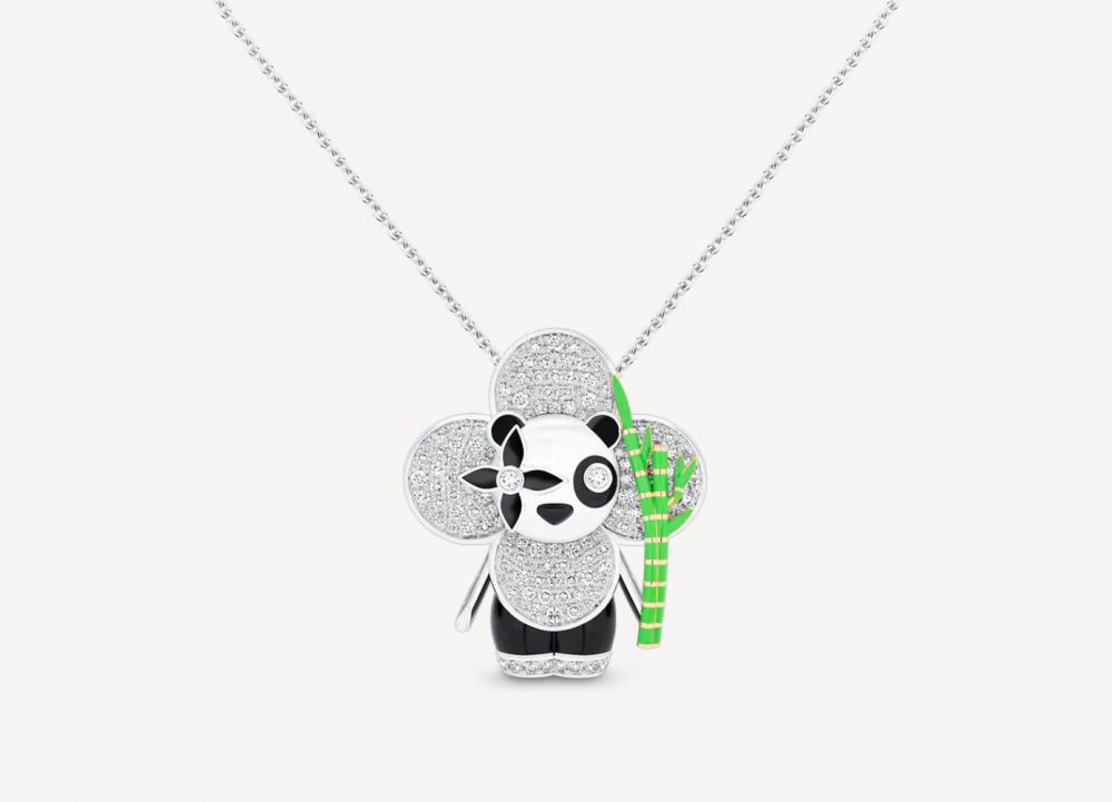 以中國的熊貓作社設計靈感的華貴的超萌熊貓、Vivienne Panda