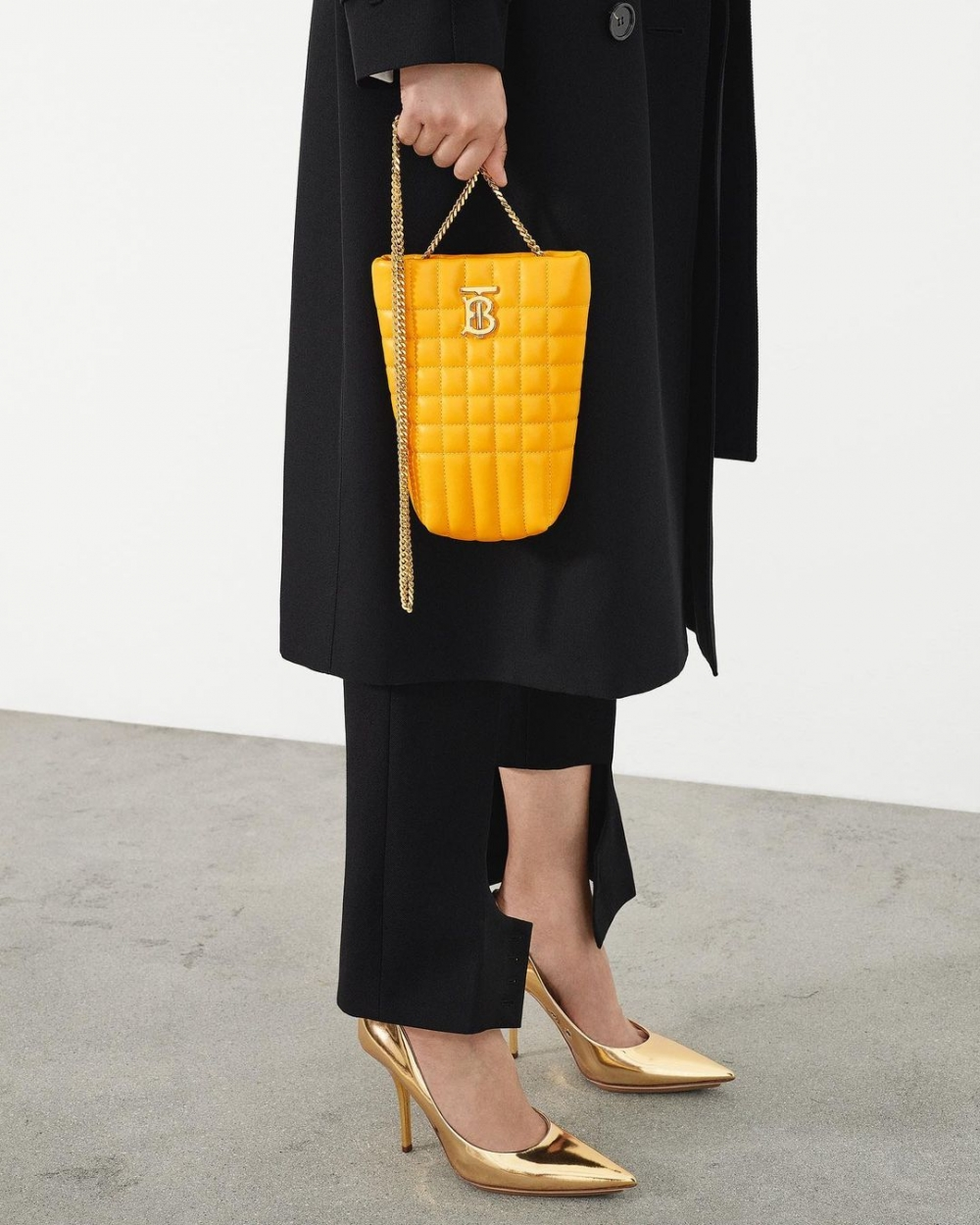 Burberry Micro Quilted Lambskin Lola Bucket Bag