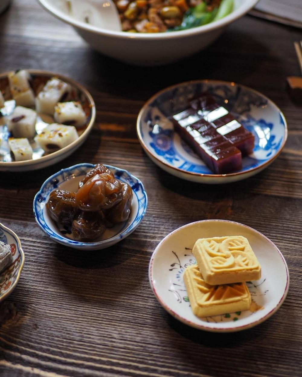 歷史感的糕點是小隱茶庵中的人氣招牌