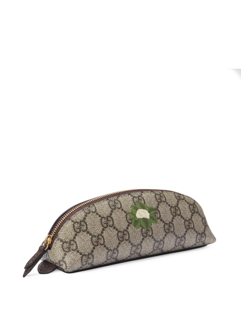 Gucci GG緹花圖案印花鉛筆盒