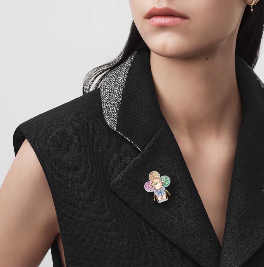 也能當成胸針的Louis Vuitton Vivienne Rainbow珠寶