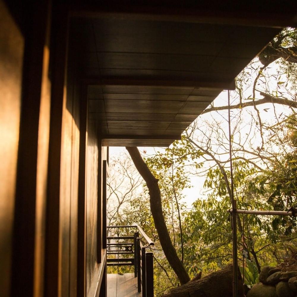 由「木」與「石」及「竹」與「泥」構築而成,嚴謹之下,卻是日本的濃厚細緻。