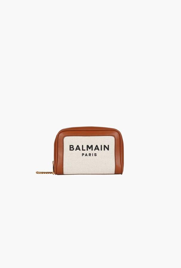 Balmain Small-sized Ecru Canvas B-army Bag