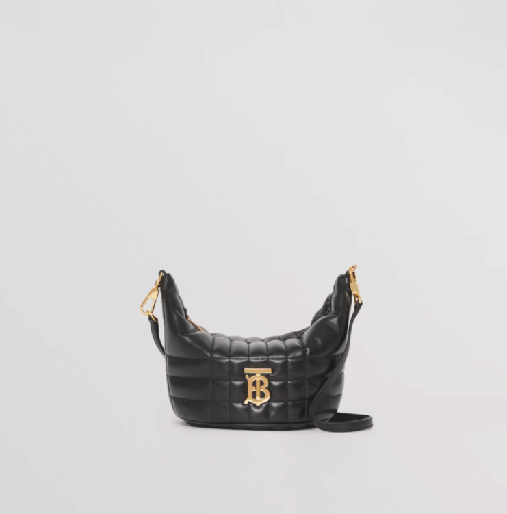 Burberry Small Quilted Lambskin Crescent Lola Bag