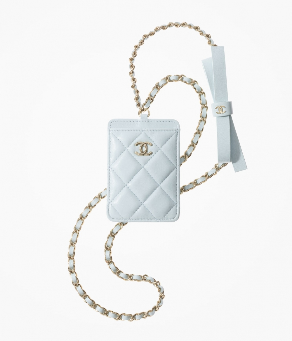 CHANEL Card Holder With Chain