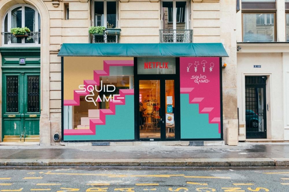 藉此在巴黎 12 rue d´Alexandrie為「魷魚粉絲」 開設Kick Café 快閃咖啡廳(Café Squid Game)