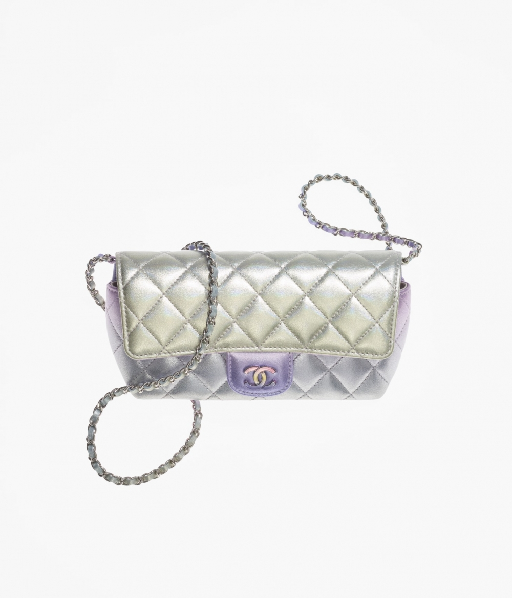 CHANEL Glasses Case With Classic Chain