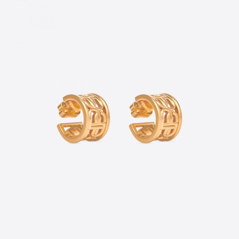 Balenciaga Women's BB Hoop Earrings