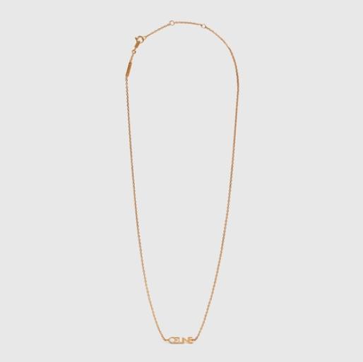 CELINE Typo Necklace