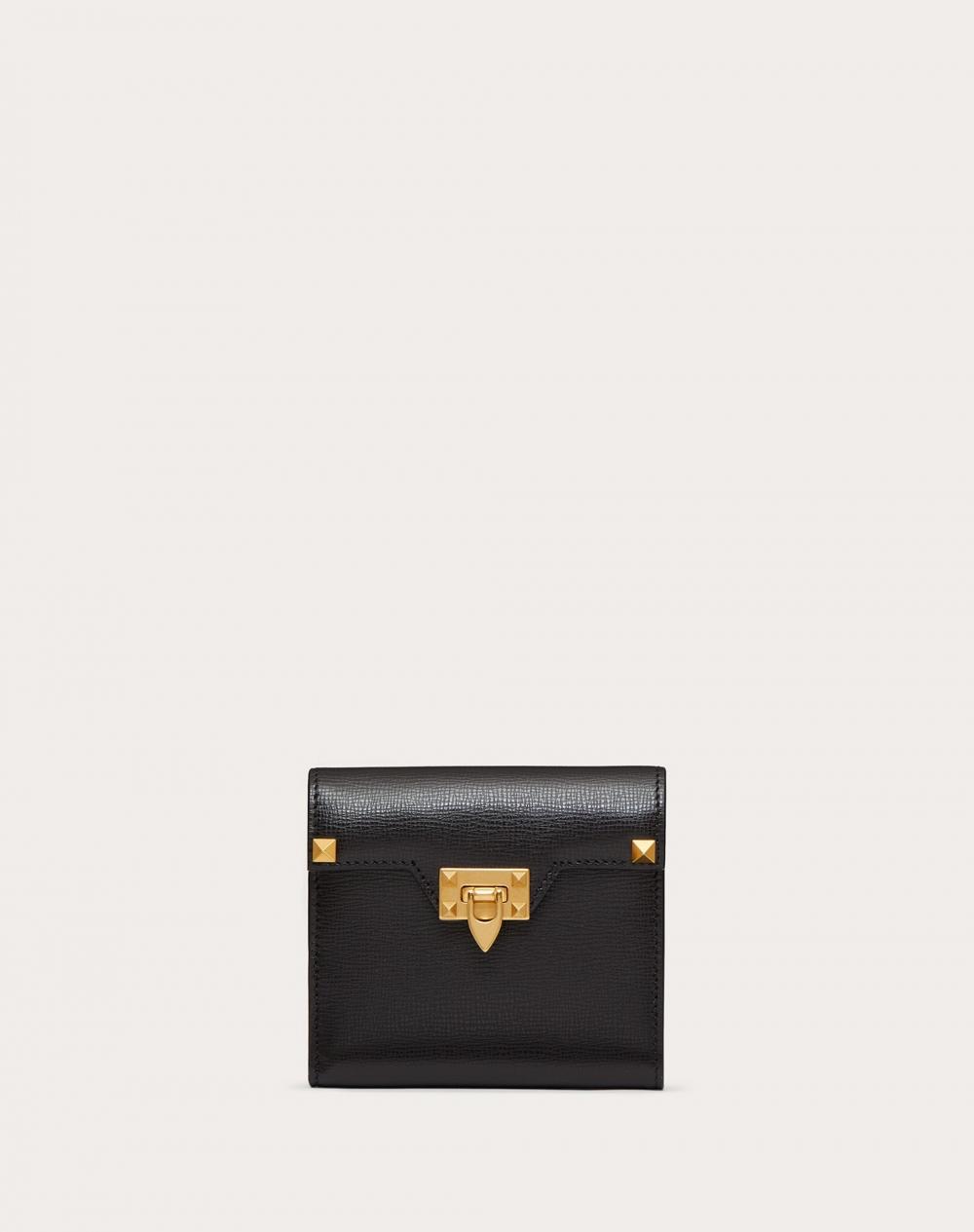 VALENTINO Compact Rockstud Alcove Wallet