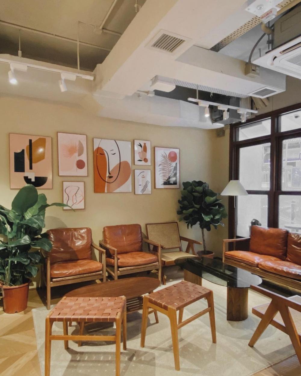 空間溫馨的小品咖啡室,讓人能真正放鬆