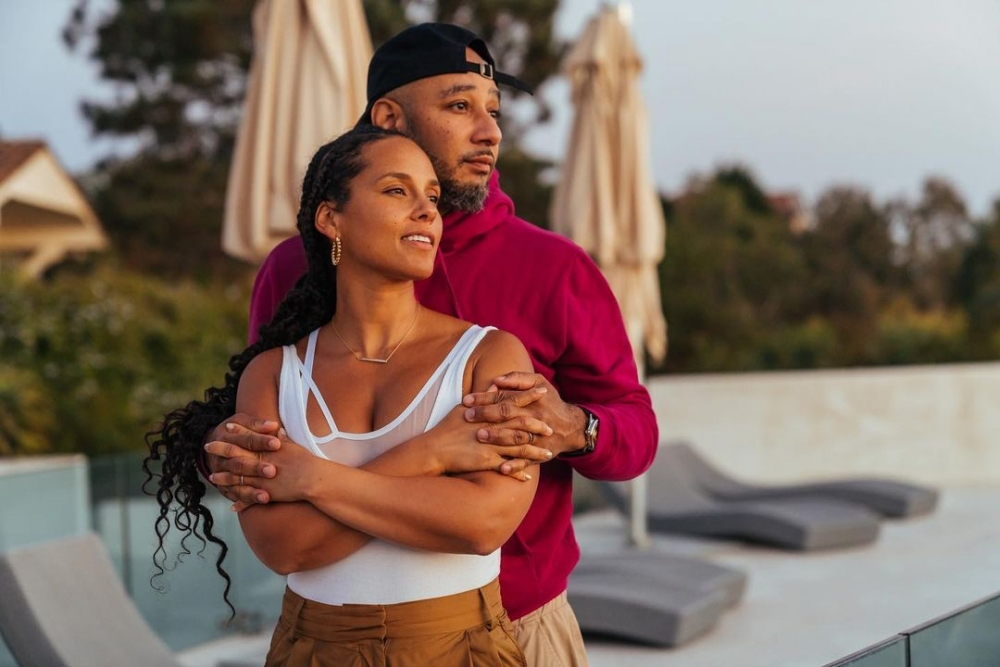 Alicia Keys和丈夫Swizz Beatz 展現她們的婚姻相處