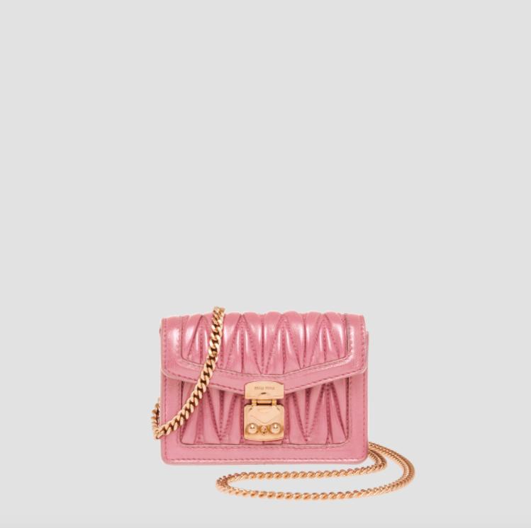 Miu Miu Matelassé Nappa Leather Mini-pouch