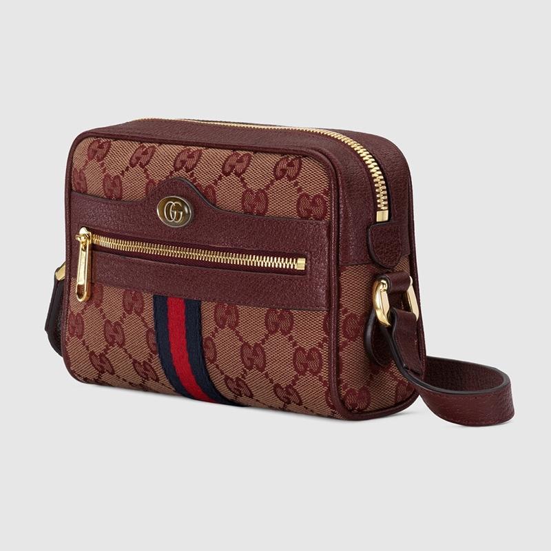 Gucci在全新系列中推出新設計的迷你Ophidia肩揹袋,