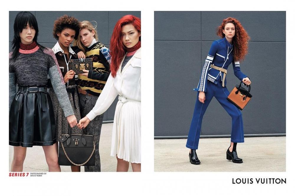 《魷魚遊戲》的鄭浩妍出任LV新任品牌大使,在2017年時拍攝的時尚大片