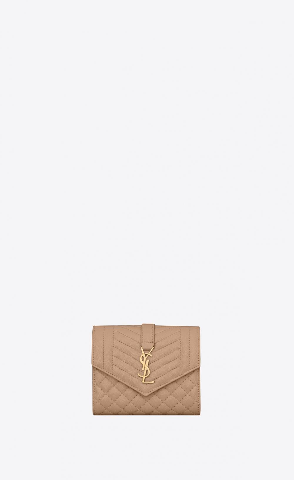 Saint Laurent Monogram Compact Tri Fold