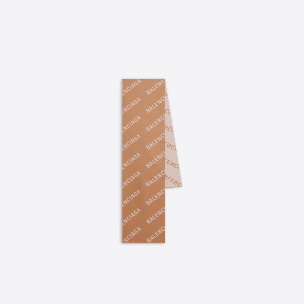 Balenciaga Allover Logo Macro Scarf